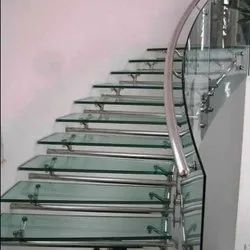 Transparent Glass Staircase