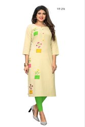 Regular Wear Flax Cotton Kurti