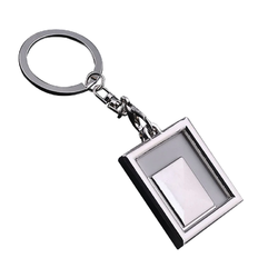 Silver Ploybag Photo Frame Keychain, Usage/Application: Gift Item