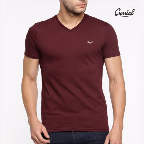 Biowash Cotton V Neck T-shirt For Men