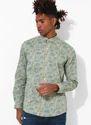 Printed Beige Full Sleeve Men Casual Cotton Shirt