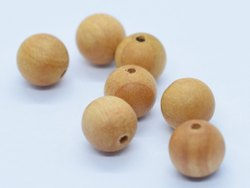plain wood bead