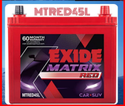 MTRED-45lL Exide Car Battery