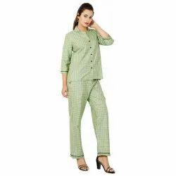 Ladies Cotton Night Suits, Size: S-XL