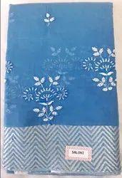 Cotton Embroidered Saree