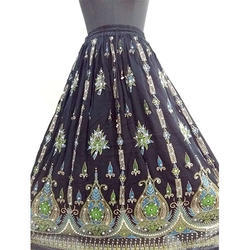Cotton Sitara Print Long Skirts