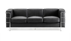Milano Office Three Seater Sofa Waiting Lounge Stainless Steel Heavy Duty Commercial Seating Office