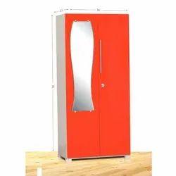 Rangoli Orange Designer Steel Almirah