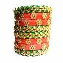 Silk Thread Hand Made Bangles, Packaging Type: Box