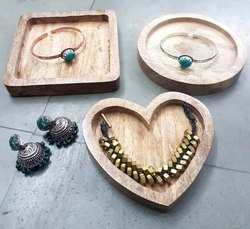 Wooden Jewellery Plate