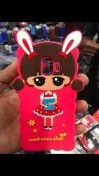Rubber Multicolor Cute Girl kitty designer back cover