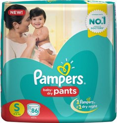 Pampers Baby Pant Diapers S-86 (MRP 1049)