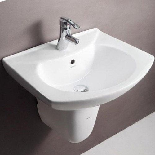White Ceramic Hindware Wash Basin