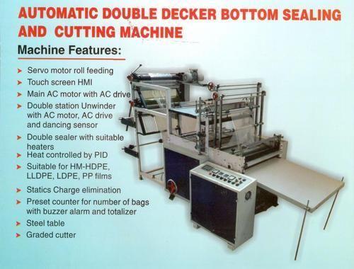 Double Decker Bottom Sealing Cutting Machine