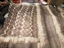 Cotton Indigo Natural Col. Dabu Block Printed Fabric, in Jaipur