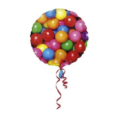 Rainbow Balloon Gum Balls