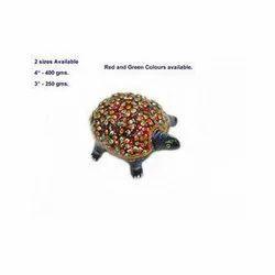 Enameled Meenakari Tortoise