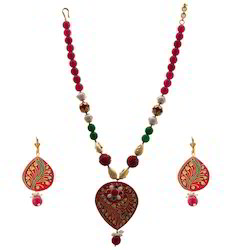 Jodhpuri Earrings Necklace Set 239