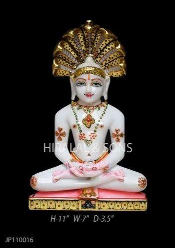 Marble Mahaveer Jain Statue