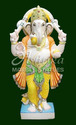 Marble Standing Ganesh Statue
