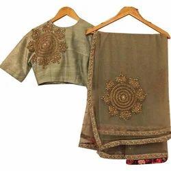 Natural Brown Ethnic Sarees