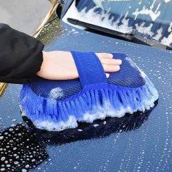 Multipurpose Microfibre Wash & Dry Cleaning Sponge, 1 Piece - Random Color-CAR_WASH_SPONGE_