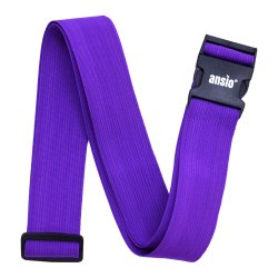 Luggage Strap Fully Adjustable Packing Belt For Suitcases And Travel Luggage 200cm x 5cm - Purple