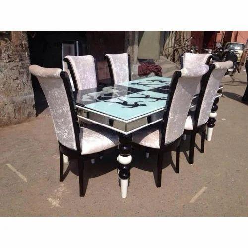 ef3cb06efd0 6 Seater Designer Wooden Dining Table Set