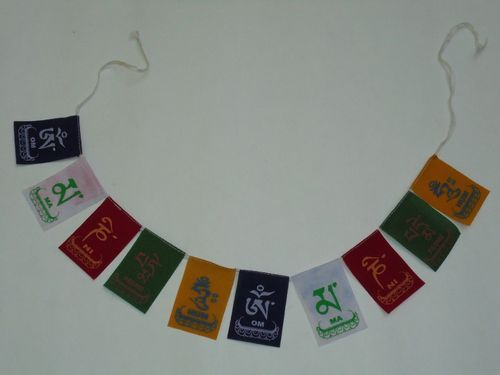 Buddhist Tibetan Prayer MANTRAS Flag OM Mani Padme for Cars and Bikes Home