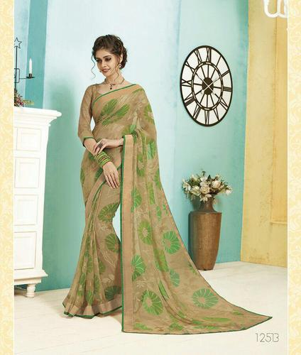 8933451a9 Too Many Colors Georgette Subhash Sareea_Georgette Sarees_Vintage 6_Catlog,  6.3 M (with Blouse Piece)