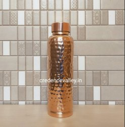 Copper Bottle Hammered Milton Design