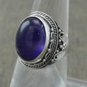 AMETHYST GEMSTONE 925 STERLING SILVER HANDMADE JEWELRY FINGER RING WR-1985