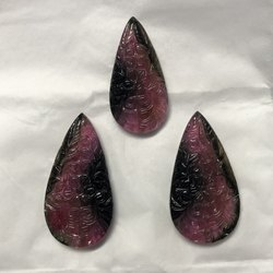Watermelon Tourmaline Gemstone Carved