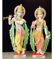 Marble Radhe Krishna Statues