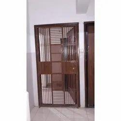 Brown Mild Steel Single Door