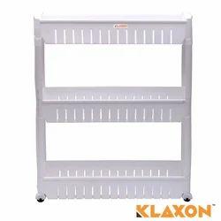 Klaxon plastic kitchen storage shelves
