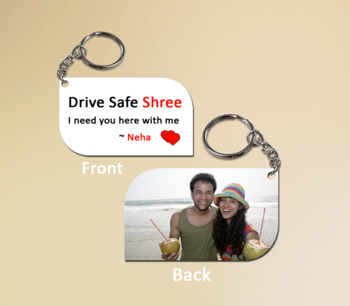 Personalized Drive Safe Keychain