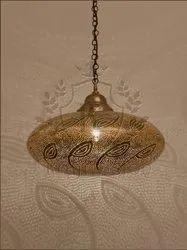Golden Kraft Vision Antique Brass Sphere Hanging Lamp for Decoration