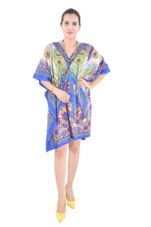 Ladies Purple Poncho Fashionable Wear Kaftan