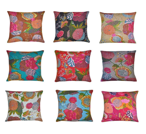 Cushion Cover Patchwork Home Decor Ethnic Pillow Case Bhagyoday
