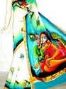 Kerela Cotton Hand Painted Sarees