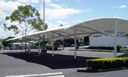 Polyster Car Parking Shade Fabric, GSM: 100-150