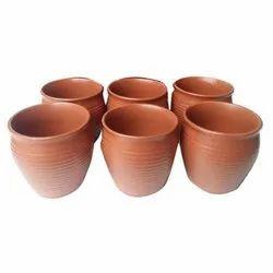 Brown Plain Clay Tea Cup, Capacity: 80 mL