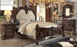 Oak Wood Solid Teak Wood Bedroom Set, Size: Queen