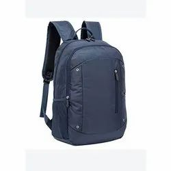 Matty Blue Plain Laptop Backpack