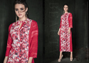 PR Fashion New Designer Dusty Pink Long Kurtis