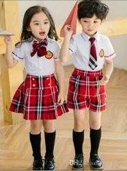 Polyester Red Kids School Uniform
