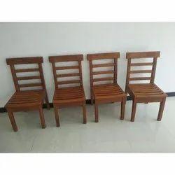 Modern Teak Wood Chair, No Of Legs: 4 Legs