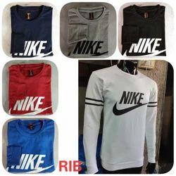 Cotton Round Men's Nike Printed T Shirt