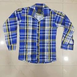 Casual Wear Cotton Mens Checked Shirt